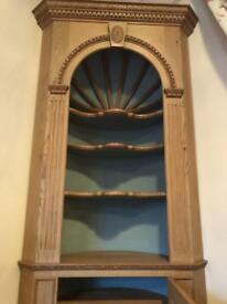 Free standing ornate wooden corner shelves with bottom cupboard. Offers Accepted