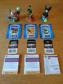 Skylanders Spyros Adventure Figure Double Trouble, Flameslinger And Hex As New Condition