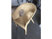 Wicker chair, good condition £5