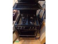 New World Gas Cooker/Oven With Grill - Black