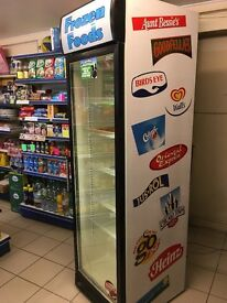 Husky frozen foods upright display freezer