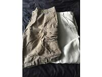 """40"""" waist trousers and shorts"""