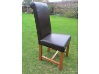 Four Oakland Leather Rollback dining chairs needing re-upholstering-ideal project!