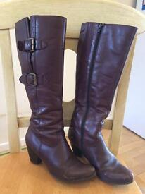 Jones Bootmaker brown leather boots size 37
