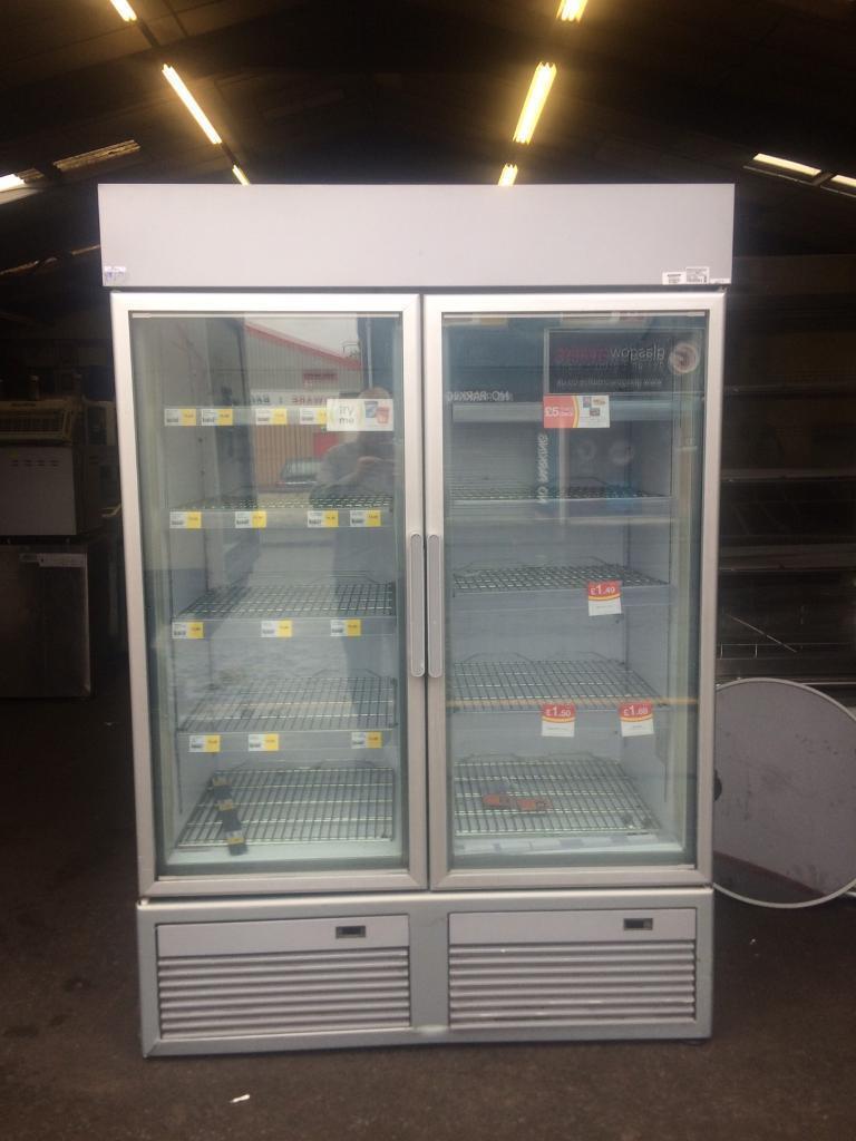 Double Door Glass Freezer Cabinet