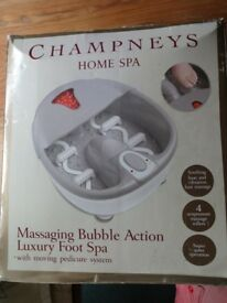 Champneys Home Spa Massaging Bubble Action Luxury Foot Spa