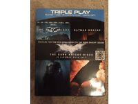 The Dark Knight and Batman Begins BLU RAY and DVD combo 5 Disc Set, Box Set