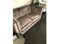 New grey velvet sofa £199 from Dukes furnishings in Dennistoun