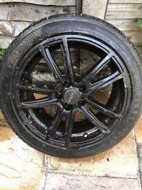 4 Continental tyres with Fox sports alloys,used but in good condition.