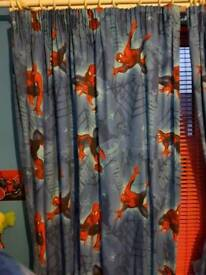spiderman curtains with tie backs