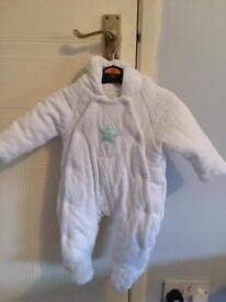 Girls 0-3 month jackets and snow suits
