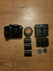 Lumix GH4 + Metabones speedbooster XL + Batteries + samyang 12mm lens