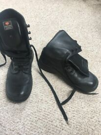 Men's Leather Boots - Black lace up - pre loved - ENERGIE
