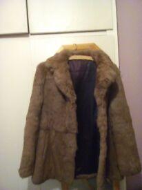 vintage coney fur jacket.