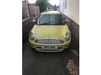 Yellow Mini Cooper D