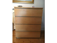 Ikea Chest of Drawers and Bedside Table with Drawers
