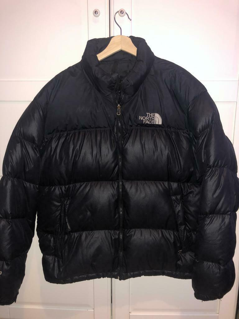 Size XL Nuptse Puffer Jacket Black