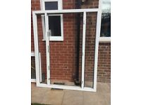 PVC frame + window panels and door