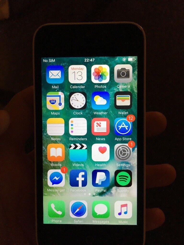 iPhone 5c 16GB White Unlocked - please read carefully