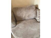 Cord beige swivel chair