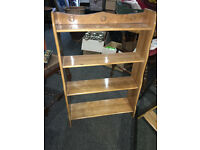 Fine Little Stylish Arts and Crafts Beech Open Bookcase