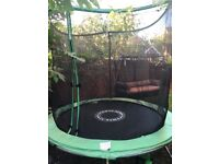 Trampoline with full net wall and safety zip/Clasp