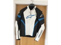 Alpinestar leather jacket. Size 44 USA EU 54, Black/Blue/White. Great condition.