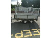 Ifor Williams trailer LT85 with high mesh sides and cover