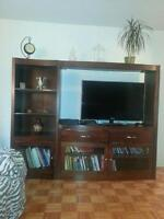 Bibliotheque/meuble television a vendre