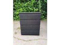 Ikea Black Drawers