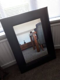 LARGE HEAVY FAUX LEATHER MIRROR FROM DEBENHAMS not cheap BARGAIN PRICE **