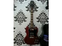 Epiphone sg and spider jam amp sell or swap electro acoustic/hollow body