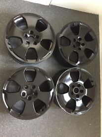 ORIGINAL Audi A3 Alloys 5x112 fits Many Audi Seat Merc VW Sokda recently refreshed in gloss black