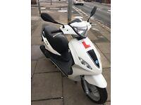 Piaggio fly 50cc twist n go moped 2015 plate