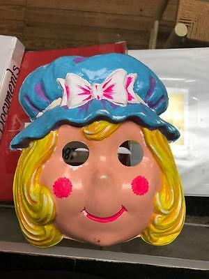 Doll face Costume Mask 1950's Collegeville Costume Company