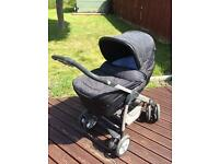 Silver Cross Sleepover Deluxe with Linear Chassis, baby car seat and ISOFIX / Travel system