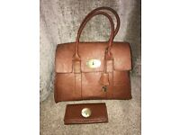 Brown bag and purse mulberry design