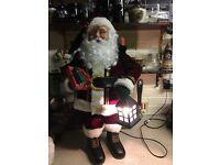 Animated Santa Claus figure
