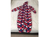 GIRLS ALL IN ONE RAIN SUIT AGE 4-5