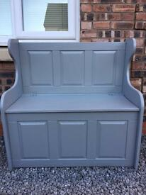 Shabby chic monks bench/pew. Farrow & ball