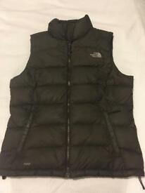 North Face women's brown gilet.