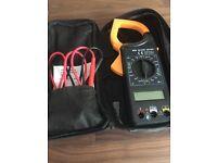 Digital clamp meter. Electrical tester