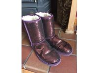 Purple sequin UGG boots size 7.5