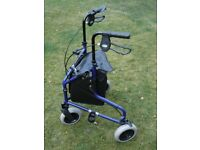 'Days' 240L 3-wheel folding lightweight aluminium walker. Never used
