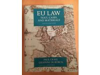 EU Law Texts, Cases and Materials Textbook