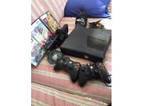 XBOX 360 KINECT - LIKE NEW - WITH SENSOR AND 2 CONTROLLERS