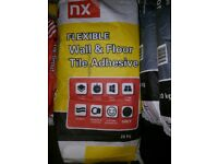 20kg fast set flexible wall and floor tile adhesive grey