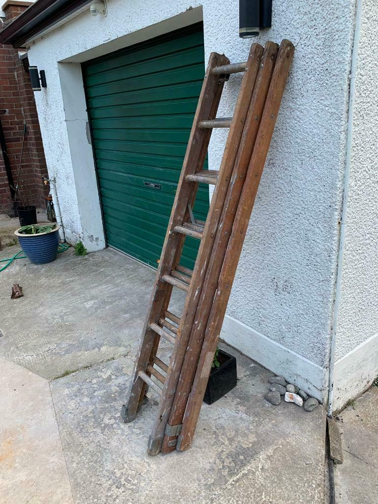 Wooden Extension Ladder 18 Foot In Larne County Antrim Gumtree