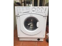 Integrated Hotpoint washing machine, 7kg load