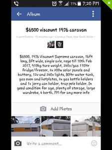 1976 Viscount supreme caravan Clarence Town Dungog Area Preview
